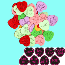 Heart Love Words Metal Cutting Die Peach heart characters Stencil Template for Scrapbooking Paper Album Card Gift Decor