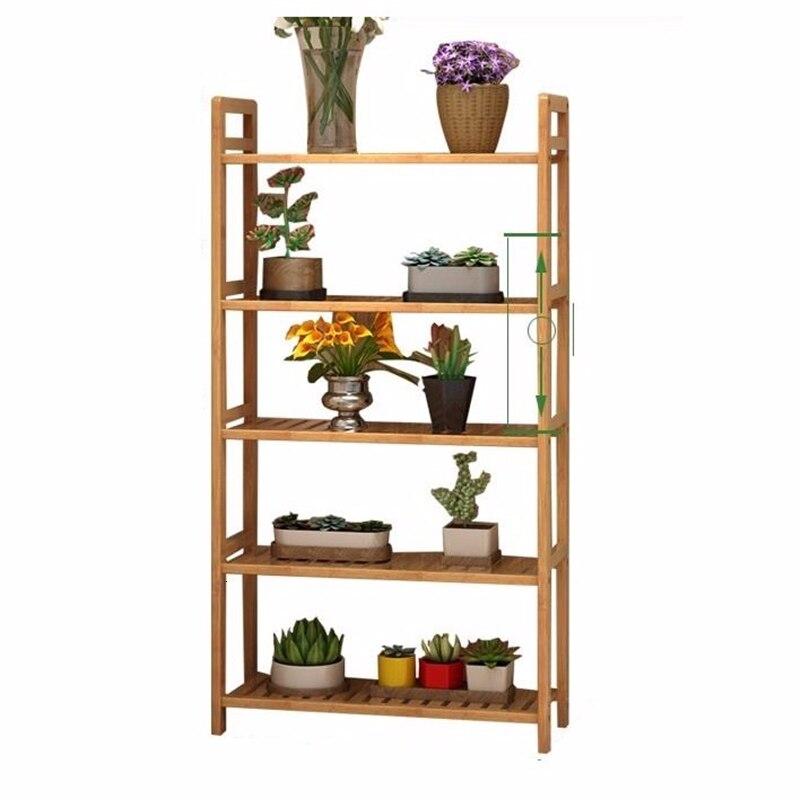 Garden Shelves Saksi Standi For Repisa Para Plantas Indoor Plant Pot Wood Balcony Shelf Dekoration Stojak Na Kwiaty Flower Stand