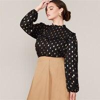 Blusa manga larga puntos dorados Tallas Plus 2
