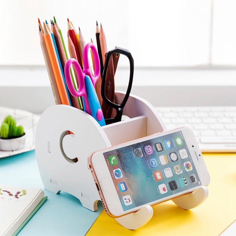 Smart Phone Tablet Stand Cute Elephant For Phone Stand Desk Bracket Pencil Holder Desk Decoration Mobile Phone Holder