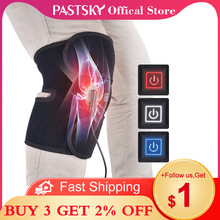 Electric Infrared Heated Knee Brace Arthritis Hot Compress Joint  Therapy Rehabilitation Pain Relief Support EU US Plug USB