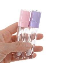 1 pz 6.4ml bottiglia di lucidalabbra vuota tubo tondo contenitore di rossetto fai da te fiale ricaricabili Display campione accessori per il trucco