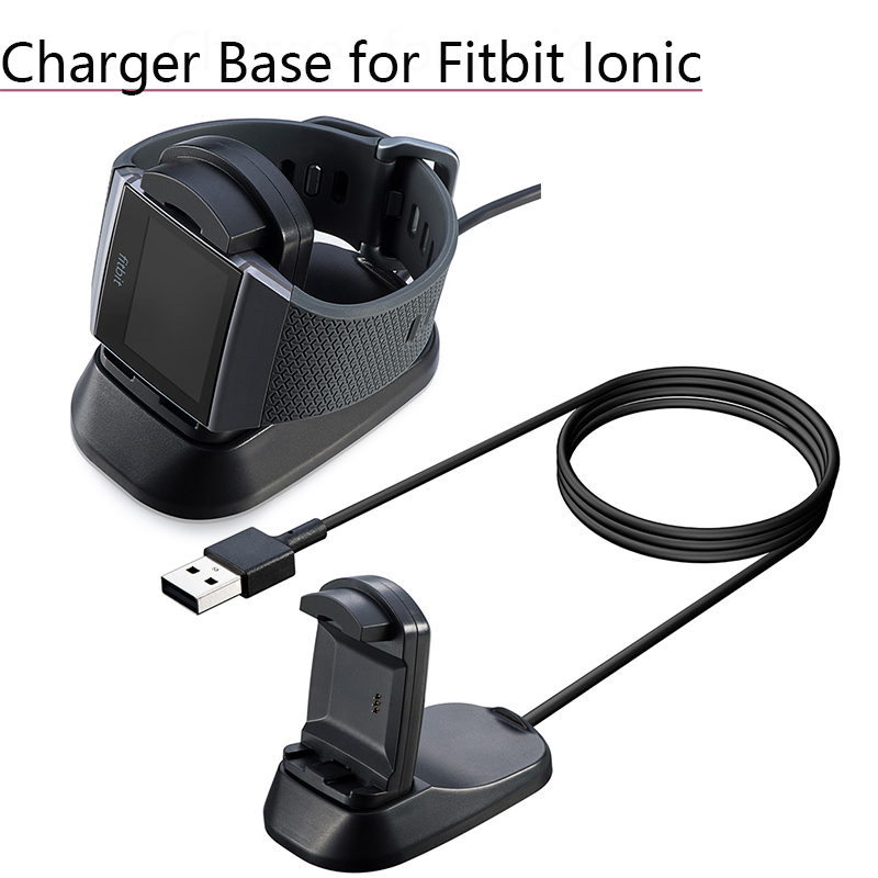 USB Charging Cradle Cable Dock Station Holder Charger Base For Fitbit Ionic Watch Smart Watch Charging Stand Replacement Parts