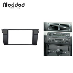 Image 1 - 180*105mm Opening for BMW 3 Series E46 Double Din Fascia Radio DVD Stereo Panel Trim Kit Refitting Installation Frame