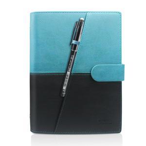 Image 3 - NEWYES Cuaderno borrable inteligente, papel de cuero, libreta con cable reutilizable, almacenamiento en la nube, Flash, forrado con bolígrafo