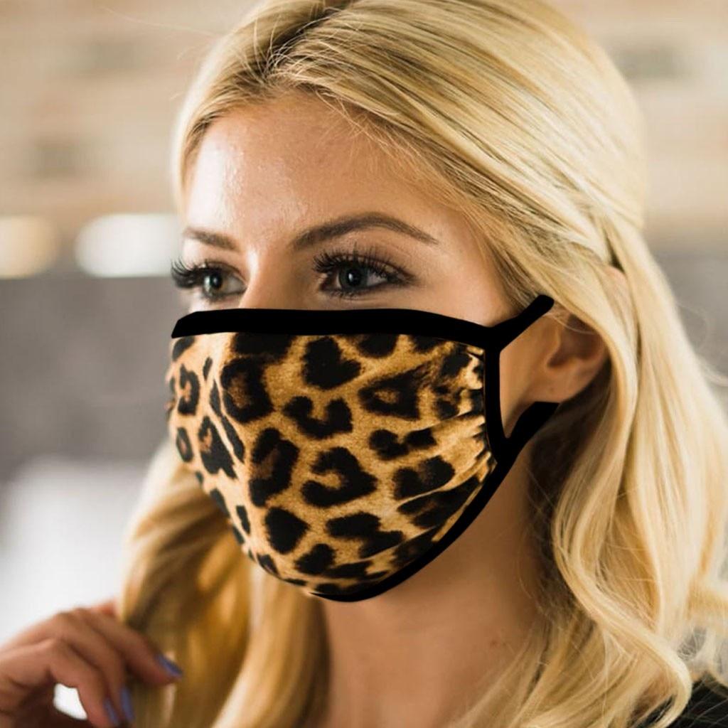 Хлопковые тапочки с леопардовым принтом защитные маски для лица, рта для Для мужчин Для женщин Для мужчин PM2.5 маски моющиеся анти-загрязнени...