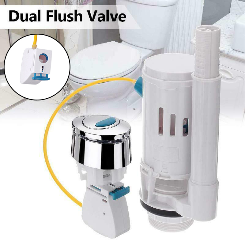 Water Tank Dual Flush Fill Drain Valves Flush Push Button Water Tank Part for Universal Seats Toilet  LKS99