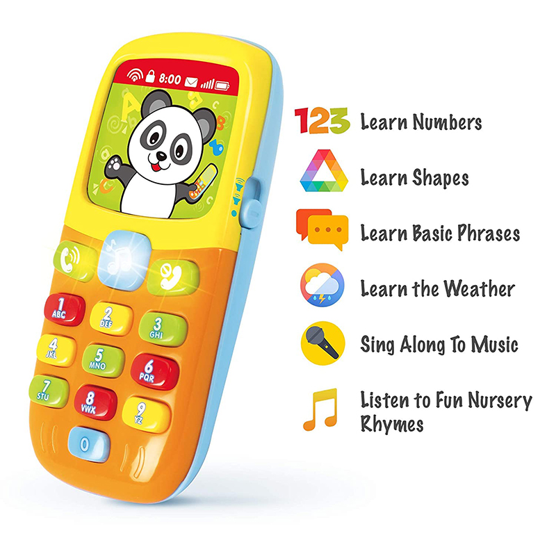 HOLA 956 Baby Toys Cellphone Mobile Phone For Newborns 0-12 Months Vocal Toy For Infant Early Learning Educational Toys For Kids
