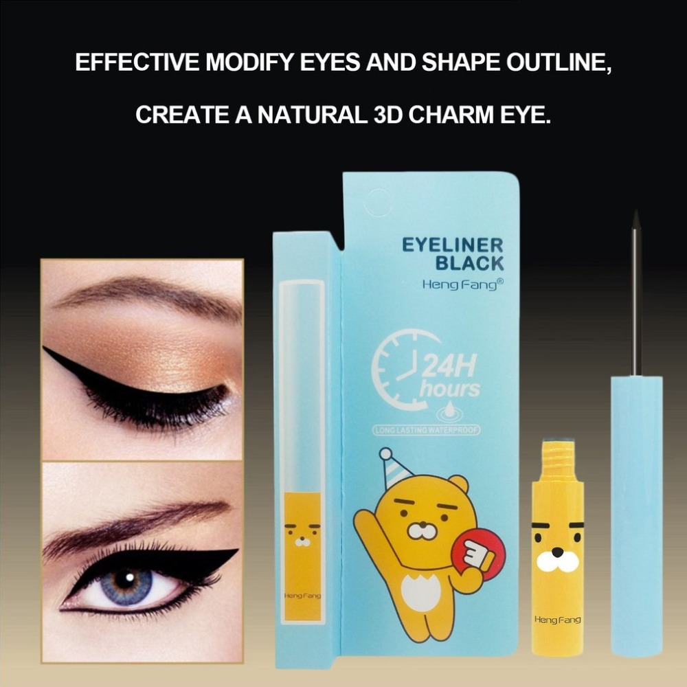 HOT Liquid Eyeliner Pen Cute Little Bear Long Lasting Quick Dry Waterproof Beauty Makeup Cosmetic Tool Sweat-proof Eye Line Pen image