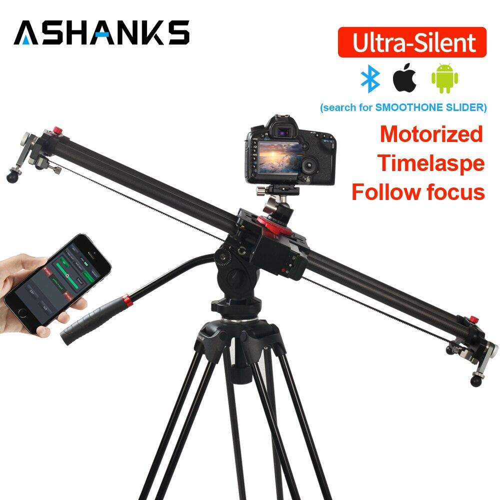 ASHANKS Bluetooth carbone caméra glissière suivre Focus motorisé contrôle électrique retard curseur Rail de piste pour la photographie en temps opportun