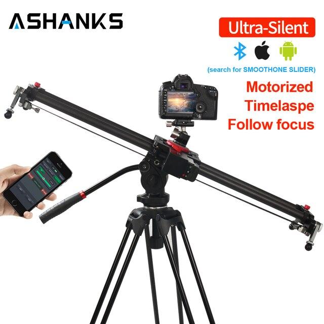 ASHANKS Bluetooth פחמן מצלמה שקופיות בצע פוקוס ממונע חשמלי בקרת עיכוב מחוון מסילה Timelapse צילום