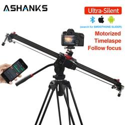 Ashanks Bluetooth Carbon Camera Slide Follow Focus Gemotoriseerde Elektrische Controle Vertraging Slider Track Rail Voor Timelapse Fotografie