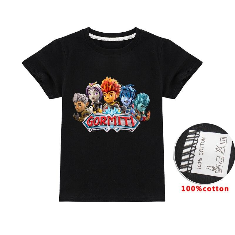 Verão gormiti jogo crianças roupas do bebê camisetas topos tshirts crianças traje de manga curta meninos camisetas de algodão meninas t camisas