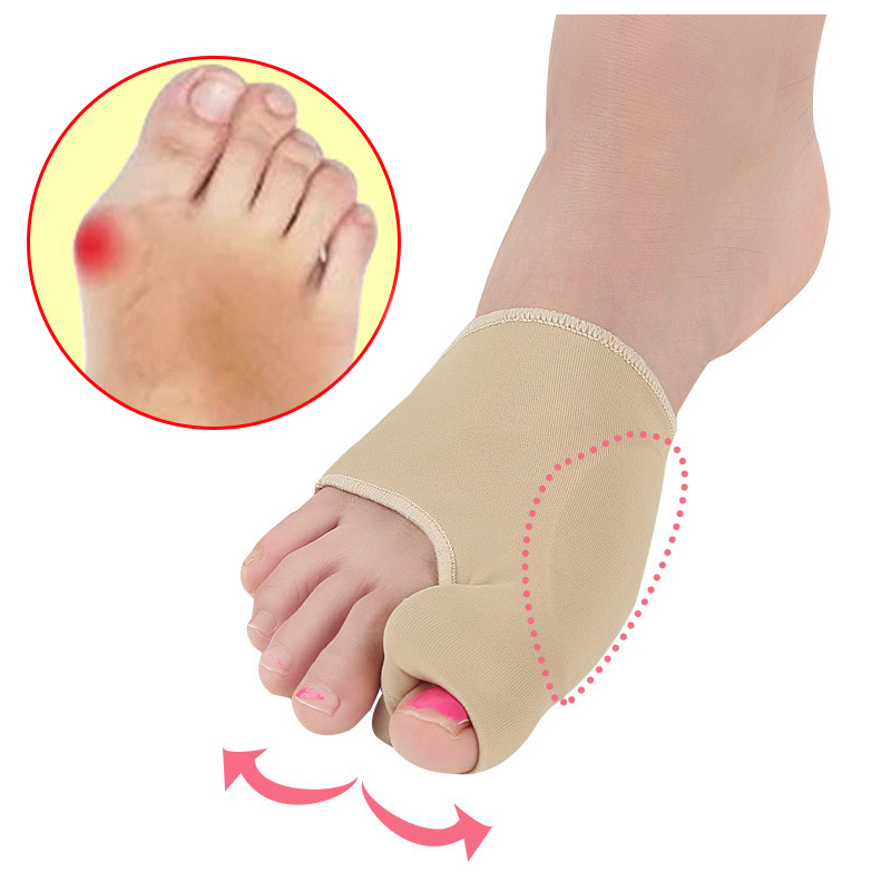 1Pair Big Bone Orthopedic Bunion Correction Pedicure Socks Silicone Hallux Valgus Corrector Braces Toes Separator Feet Care Tool