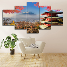 Mount Fuji Pagoda Canvas Painting Japan Landscape Poster Prints Morden Home Living Room Decoration Wall Art