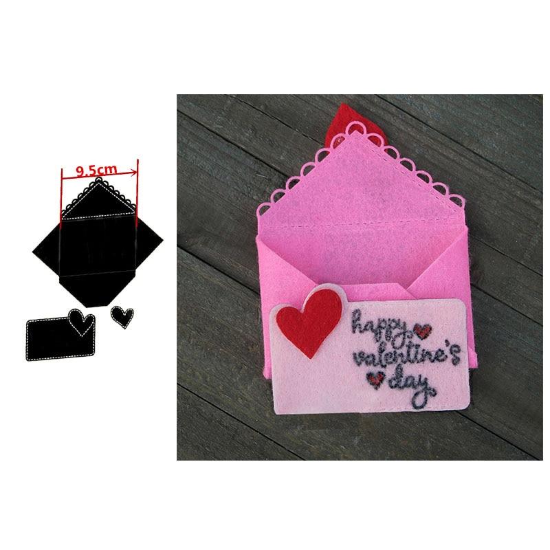 Love Envelope Metal Cutting Dies Stencil For DIY Scrapbooking Wedding Card Making Decorative Crafts New 2020 Diecut