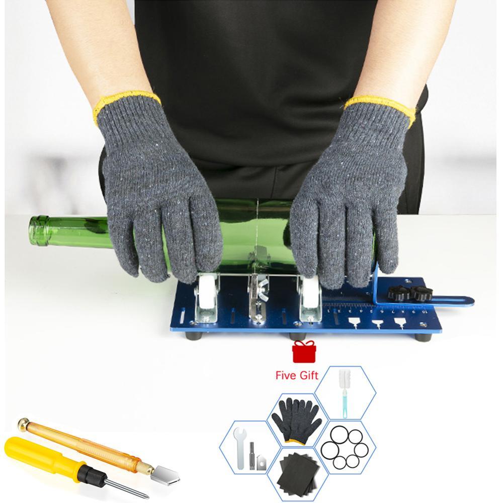 Glass Bottle Cutter Cutting Thickness 2-10mm Aluminum Alloy Better Cutting Control Create Glass Sculptures