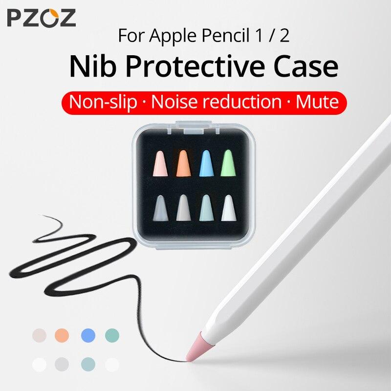 PZOZ 8pcs Protective Case For Apple Pencil 1 2st Pen Point Stylus Penpoint Cover Silicone Protector Case For Apple Pencil2 Case