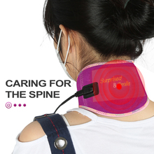 Infrared Heating Pad Neck Protection and Cervical Pain Electric Neck Brace Heating Wrap Heat Therapy for Pain Relief USB Powered