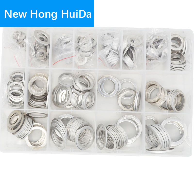 Aluminum Fat Washer Shim Gasket Plain M6 M8 M10 M12 M14 M16 M18 M20 M22 Assortment Kit Set Fastener Hardware image