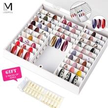 LadyMisty поддельные кончики для ногтей цветной дисплей держатель для ногтей ящик для хранения украшений для дизайна ногтей Декоративный контейнер дисплей