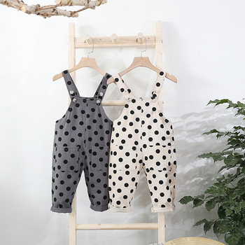 Pocket Polka Dot Jumpsuits