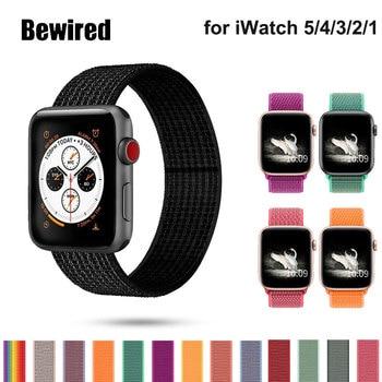 цена на Sport Loop Strap For Apple Watch band 44mm 42mm band strap 40mm 38mm Nylon bracelet Watchband for Apple watch series 5/4/3/2/1
