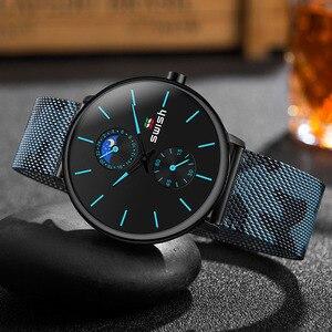 Часы наручные SWISH мужские с хронографом, роскошные брендовые аналоговые водонепроницаемые из нержавеющей стали