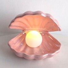 LED Shell Perle Nachtlicht Schlafzimmer Nacht Lampe Nacht Desktop Tisch Dekorative Licht Weihnachten Geschenke Für Wohnzimmer Wohnkultur