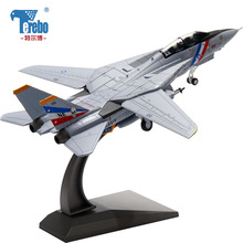 Terebo 1:100 F14 Tomcat Aircraft Model Alloy Simulation Fighter Military Model Finished Decoration collection gift