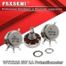5 шт. WTH118 DIY Kit Parts 2W 1A потенциометр WTH118-1A 2W 470R 1K 2,2 K 4,7 K 10K 22K 47K 100K 470K 500K 560K 1M