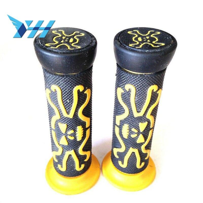 """Pair Universal ATVs /& Watercraft /& PWC Rubber Comfort Hand Grips Yellow 7//8/"""""""