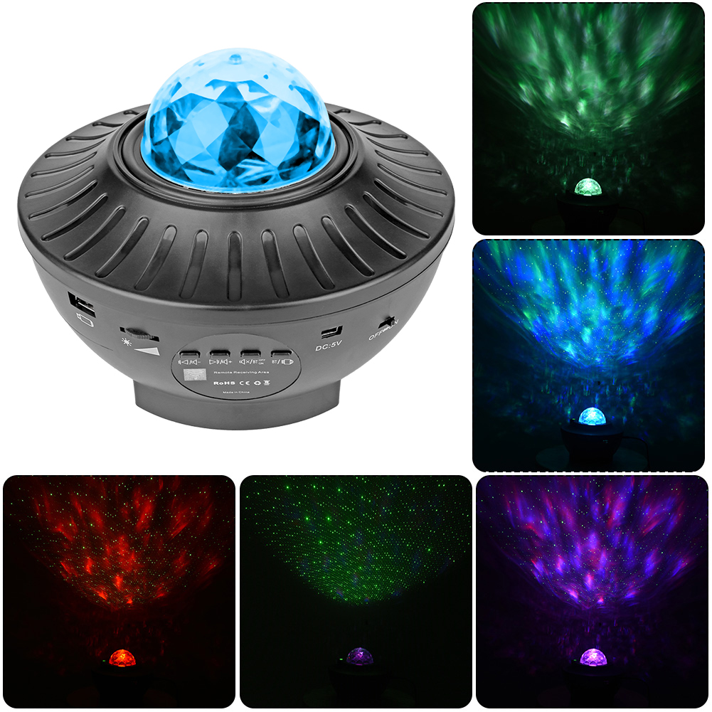 USB LED Star Night Light Colorful Starry Sky Projector Blueteeth Voice Control Music Player LED Night Light Romantic Lamp gift