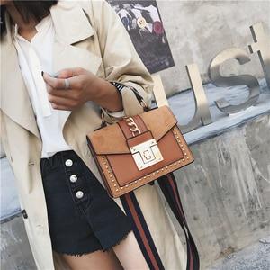 Image 4 - Handbag Fashion Small Shoulder Bags for Women 2020 PU Leather Crossbody Bag High Quality Ladies Hand Bag Chain Rivet Decoration