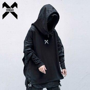 11 BYBB'S DARK Cargo Sweatshirts Men Harajuku Streetwear Hoody Hoodies Autumn 2020 Fashion Casual Hip Hop Male Oversize XN19