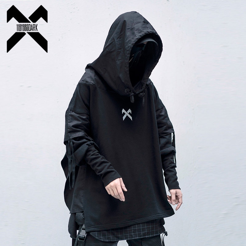 11 BYBB'S DARK Cargo Sweatshirts Men Harajuku Streetwear Hoody Hoodies Autumn 2020 Fashion Casual Hip Hop Male Oversize XN19