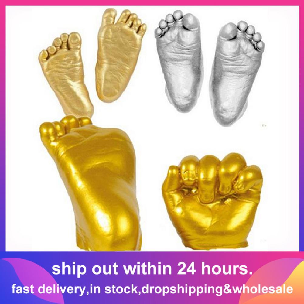 yummyfood 3D Baby Casting Kit Baby Handprint Footprint Kit Hands Foot Sculpture For Baby Ornament Keepsake