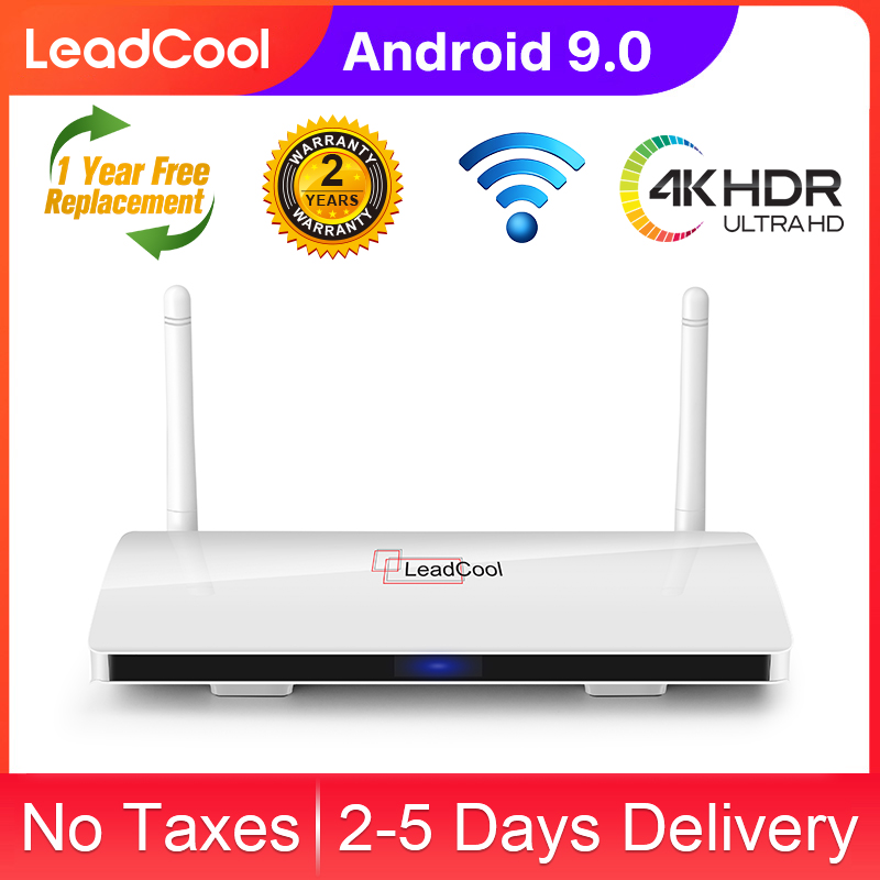 Leadcool <font><b>Android</b></font> 9.0 <font><b>Box</b></font> <font><b>TV</b></font> S905W Quad-Core H.265 USB2.0 1/2G <font><b>8</b></font>/16G Smart <font><b>Tv</b></font> <font><b>Box</b></font> Android9.0 100M 4K Mali400MP2 Wifi2.4G Leadcool image