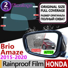 For Honda Brio Amaze 2015 2016 2017 2018 2019 Full Cover Anti Fog Film Rearview Mirror Clear Accessories Stickers Satya RS