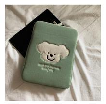 Чехол для планшета с милым мультяшным изображением милого медведя, с вышивкой, с ручкой, для ipad, ноутбука, 11 дюймов, сумка для девушек, модный ...