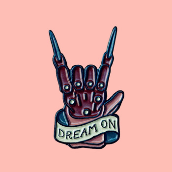 Freddy Krueger Enamel Brooch Pins Badge Lapel Pins Alloy Metal Fashion Jewelry Accessories Gifts image