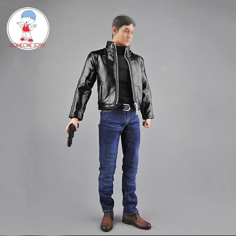 Toy Center CEN-M07 <font><b>1/6</b></font> <font><b>Scale</b></font> Male Agent Suit with Leather Shoes <font><b>Gun</b></font> Model for 12 Inches Soldier Action Figure Clothes image