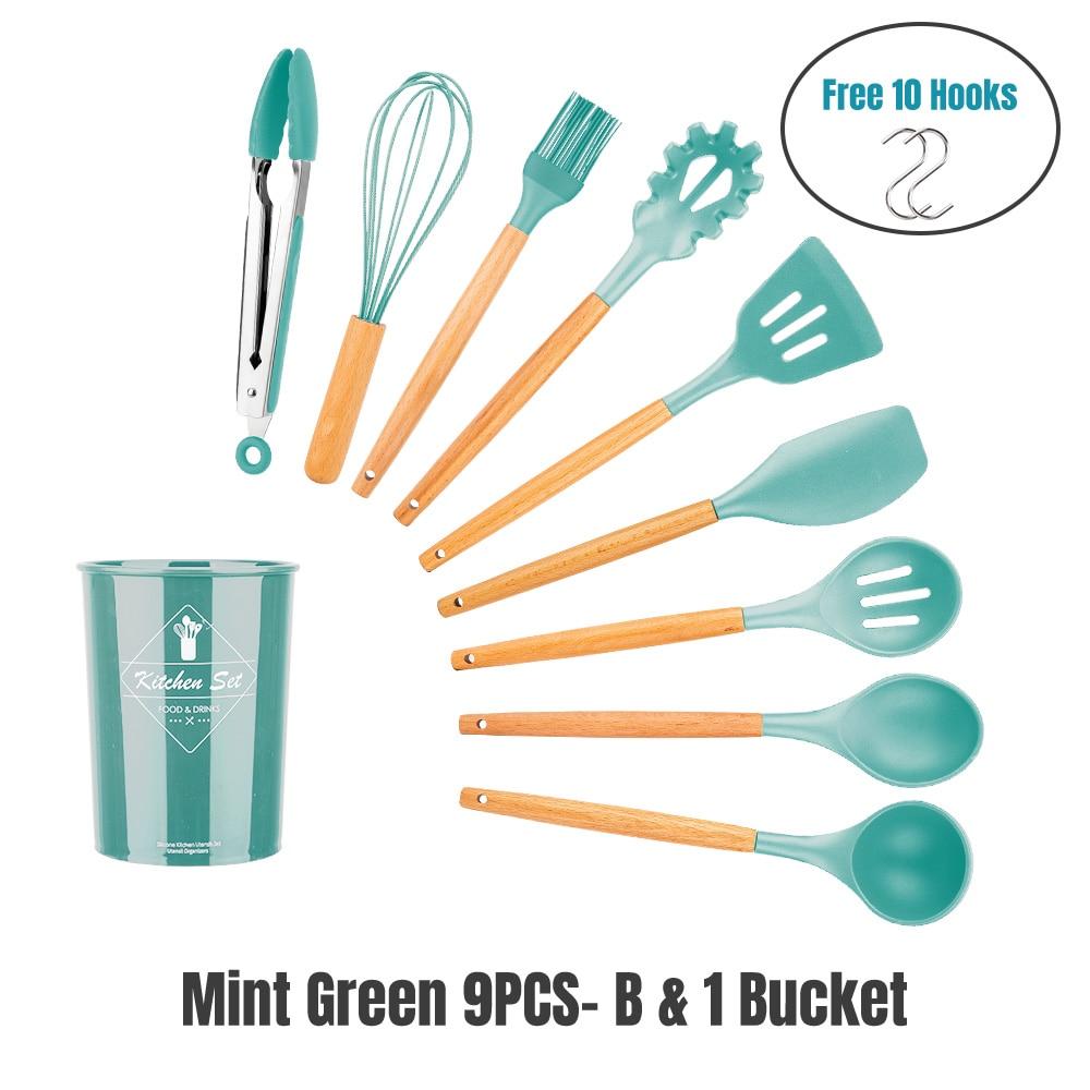 GREEN 9PCS-BK