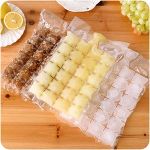 New 10 Pcs Ice Cube Mold Self-Seal Ice Cube Bags Transparent Disposable Faster Freezing Maker Ice-making Bag Kitchen Gadgets