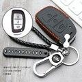 Кожаный чехол для автомобильного ключа, чехол для HYUNDAI TUCSON IX35 SOLARIS i25 i30 MISTRA ACCENT, умный ключ для стайлинга автомобиля