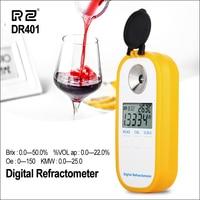 RZ Digital Display Refractometer Brix 0 50% Alcohol Range 0~22% Refractometer Brix Beer Wine Fruit Grape Sugar Saccharimeter