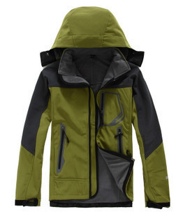 Outdoor Men's Soft Case Raincoat Jacket Outdoor Climbing Sports Clothing Waterproof Warm Soft Case Clothing Fleece Can Be Printe