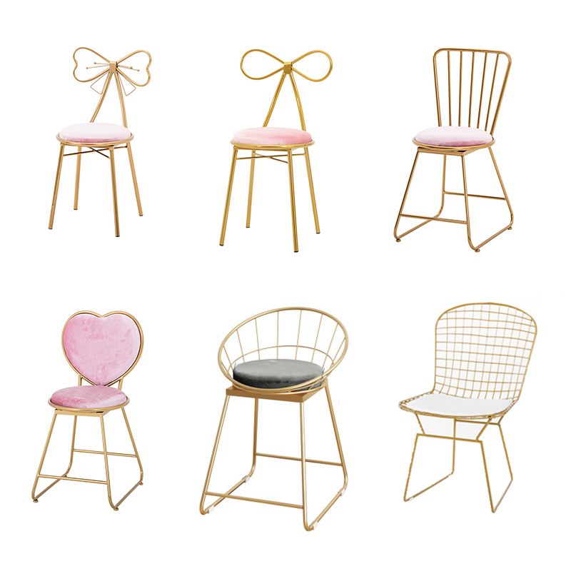 ins style dressing stool cute girl paste chair ins lazy   heart princess