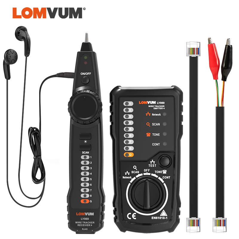 LOMVUM Wire Tracker  RJ45 RJ11 Cable  Detector Line Finder For Ethernet LAN Network Cable /Telephone Wire Tester Checking