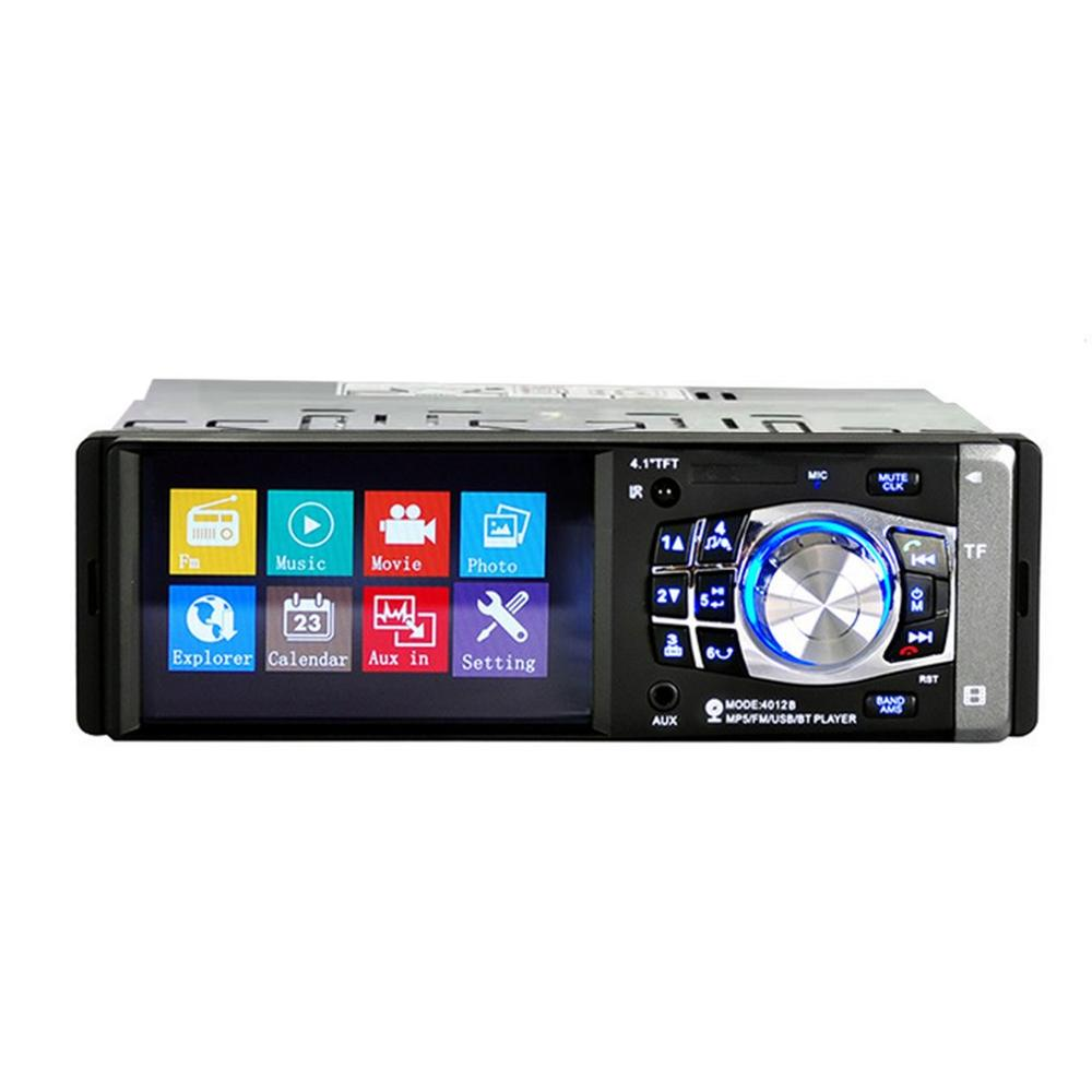 4.1 Inch Hd Screen Fm Tf Usb Sd Spiegel Link Autoradio 1 Din Auto Radio Mp5 Speler Stereo Wireless Radio Cassette Speler image